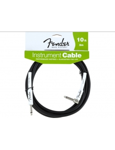 Fender 10' Angle Instrument Cable Black