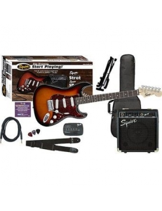 Squier Stratocaster SE Special with Squier SP-10 Amp Brown Sunburst