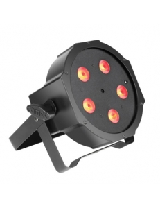 Cameo FLAT PAR CAN TRI 5x3W IR - 5 x 3 W High Power TRI colour FLAT LED RGB PAR прожектор черный с пультом управления