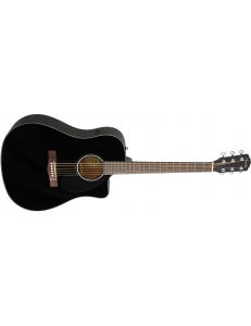 FENDER CD-60SCE BLK электроакустическая гитара, топ - массив ели, цвет черный